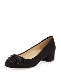 Flynn Beaded Suede Pump Black Sesto Meucci