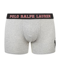 Polo Ralph Lauren Logo Waistband Boxer Briefs Male Light Grey