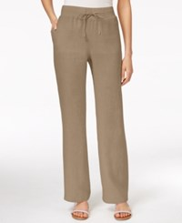 Styleandco. Style And Co. Wide Leg Linen Drawstring Pants