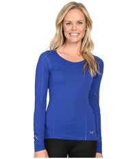 Arc'teryx Motus Crew Long Sleeve Somerset Blue Women's Clothing