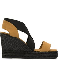 Castaner Castaner 'Bernard' Wedge Espadrilles Nude And Neutrals