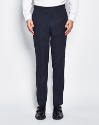 The Idle Man Suit Trousers In Skinny Fit Navy