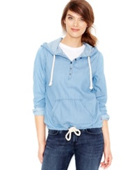 Levi's Chambray Pullover Hoodie Heritage Wash