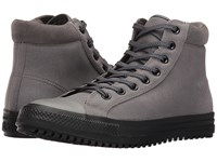 Converse Chuck Taylor All Star Boot Pc Coated Leather Hi Charcoal Grey Blue Lagoon Black Men's Lace Up Boots Gray