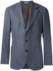 Brunello Cucinelli Patch Pocket Blazer Blue