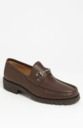 Men's Gucci Classic Lug Sole Moccasin Brown