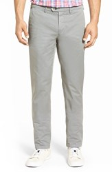 Stone Rose Men's Slim Fit Stretch Twill Chinos Grey