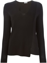 Akris V Neck Sweater Black