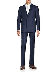 Saks Fifth Avenue Notched Lapel Jacket And Pants Set Navy