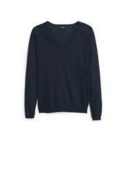 Mango V Neck Sweater Black