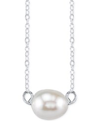 Unwritten Cultured Freshwater Pearl Pendant Necklace In Sterling Silver 8Mm No Color
