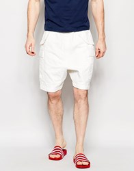 Asos Slim Shorts With Cargo Styling In White White