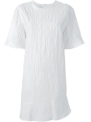 Ca Dric Charlier Perforated Textured Dress White