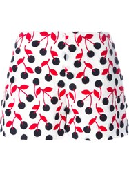 Giamba Cherry Embroidered Shorts White