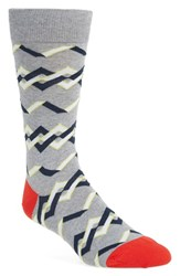 Men's Hot Sox 'Abstract Chain' Socks Grey Sweatshirt Grey Heather
