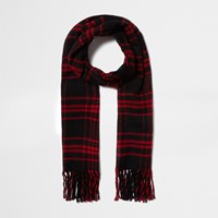 River Island Womens Red Tartan Check Scarf