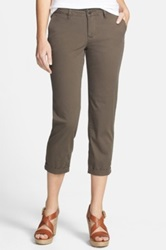 Jag Jeans Cora Slim Crop Stretch Twill Pant Brown
