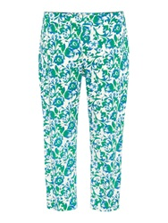 Persona Plus Size Cropped Floral Straight Leg Trouser Multi Coloured