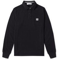 Stone Island Long Sleeve Regular Fit Polo Black