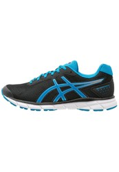 Asics Gelimpression 9 Cushioned Running Shoes Black Blue Jewel Silver
