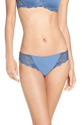 Simone Perele Women's 'Caresse' Lace Tanga Briefs French Blue