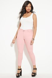 Forever 21 Plus Size Skinny Jeans Pink