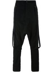 Poeme Bohemien Drop Crotch Trousers Black