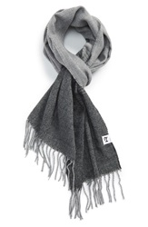 The Rail Ombre Scarf Black Charcoal