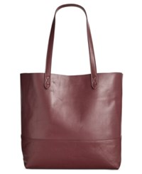 Giani Bernini Large Leather Commuter Tote Only At Macy's Wine