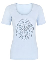 Damsel In A Dress Seashell Cotton T Shirt Blue