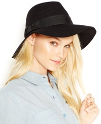 August Hats Felt Floppy Fedora Black Jewel