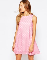 Love Polka Dot Swing Dress Pink