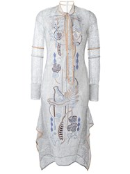 Peter Pilotto Embroidered Lace Dress Metallic