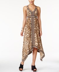 Inc International Concepts Petite Printed Criss Cross Back Dress Only At Macy's Caramel