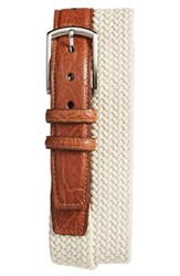 Men's Torino Belts Woven Cotton Belt Cream Beige