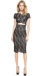 Lover Vee Vee Splice Dress Black