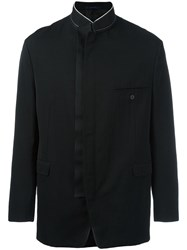 Lanvin Off Centre Zip Collarless Blazer Black