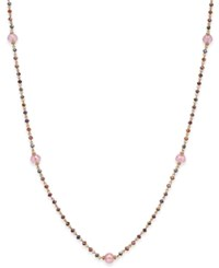 Inc International Concepts Gold Tone Multi Bead Long Necklace Only At Macy's