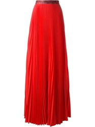 Christopher Kane Pleated Maxi Skirt Red