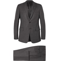 Prada Grey Slim Fit Wool Suit Gray