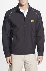 Men's Big And Tall Cutter And Buck 'Cleveland Browns Beacon' Weathertec Wind And Water Resistant Jacket