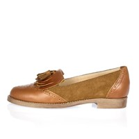 River Island Womens Brown Leather Tassel Loafers