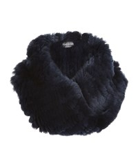 Harrods Of London Twisted Fur Small Snood Female Blue