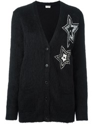 Saint Laurent Star Embellished Cardigan Black