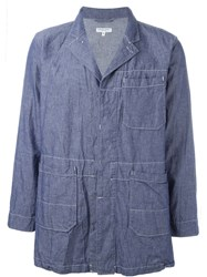 Engineered Garments Creased Utility Jacket Blue