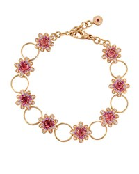 Roberto Coin 18K Rose Gold Diamond Pink Sapphire And Tourmaline Flower Bracelet