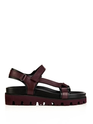 Valentino Leather Platform Sandals