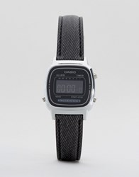 Casio Black Leather Strap Watch La670wel 1Bef Black