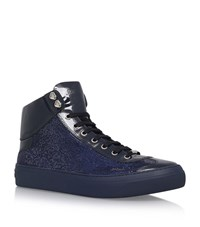 Jimmy Choo Argyle Crystal High Top Sneakers Male Navy