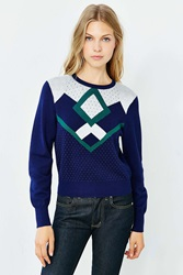 Cooperative Jessie Patterned Sweater Blue Multi
